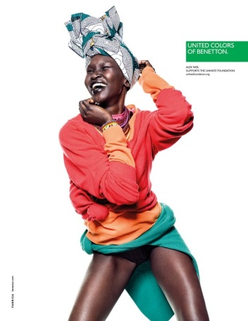 Alek Wek for Benetton