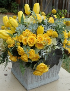 Yellow Flower Basket