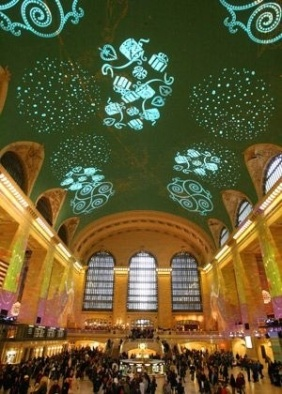 Grand Central Light Show - English.people.com.cn
