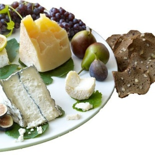 Cheese and fruit plate via Health.com