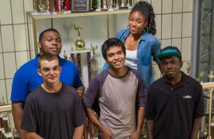 Rochelle with students from Brooklyn Castle - thechessdrum.net
