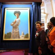 Shirley Chisholm Portrait Unveiled by Rep. Barbara Lee, Speaker Nancy Pelosi and Rep. Maxine Waters - UPI/Roger L. Wollenberg