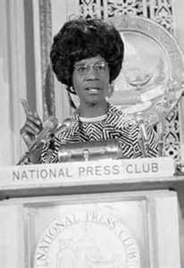 Shirley Chisholm at the National Press Club - www.brooklynrail.org