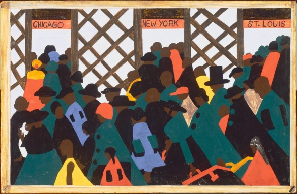 Jacob Lawrence - The Great Migration - analysis.org