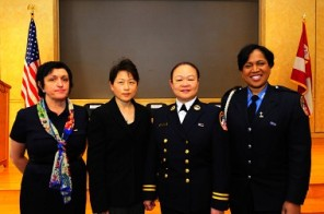 FDNY Firefighter Regina Wilson on right - NYC.gov