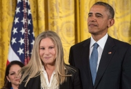 President Obama & Barbra Streisand NICHOLAS KAMM/AFP/Getty Images