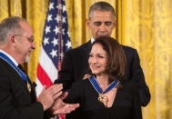 President Obama & Gloria Estefan NICHOLAS KAMM/AFP/Getty Images