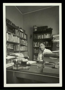 Dr. King in his study, Atlanta GA