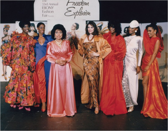 Eunice Johnson, 1991, Ebony Fashion Fair via Ebony.com